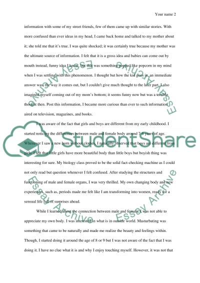 Female Sexual Autobiography essay example