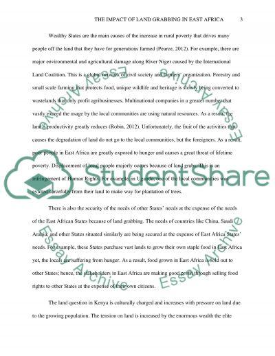 Land grabbing essay