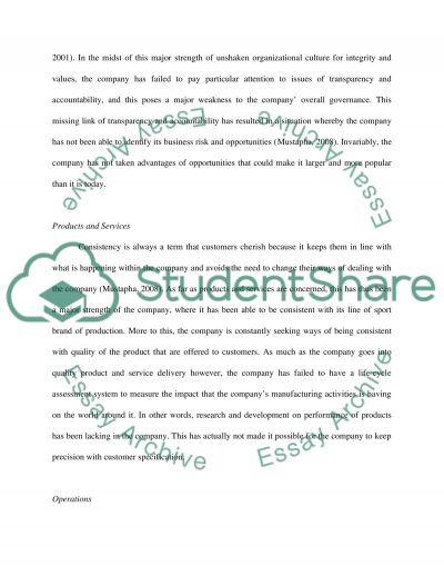 Case Study: New Balance essay example