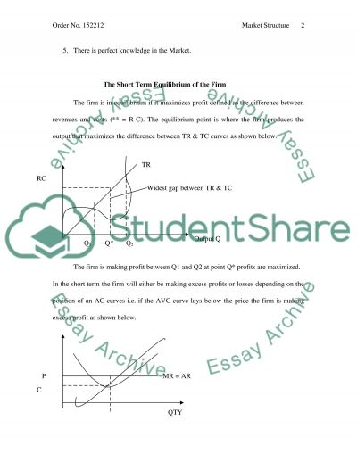 Market Structure Research Paper