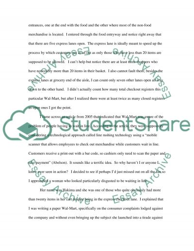 Wal-Mart Research Paper essay example