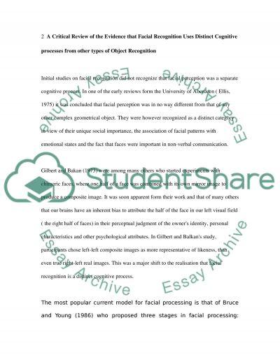 Neuropsychology essay example