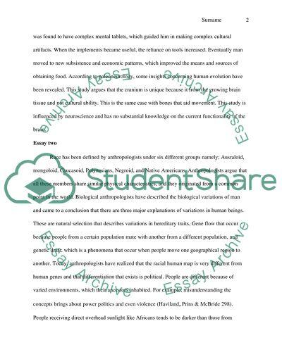 Anthropology Response Paper 2
