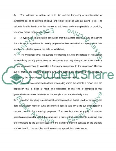 Components of a research article essay example