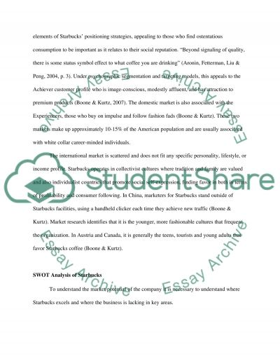 Market Analysis of Starbucks essay example