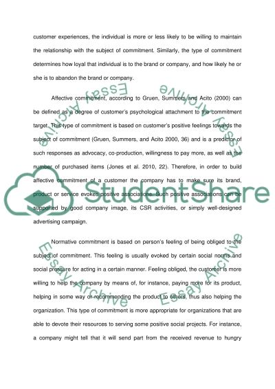 How to increase customers commitment and loyalty to the products essay example