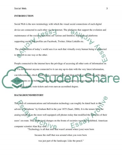 Social Web Research Paper example