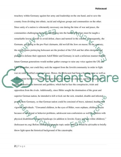 Holocaust Philosophy Essay essay example
