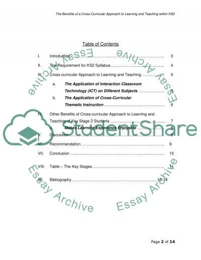 National Curriculum essay example