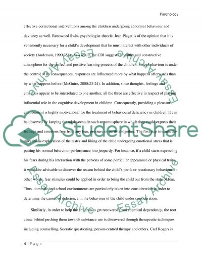 Cognitive Behavioral Interventions/Social Skills/ Collaboration essay example