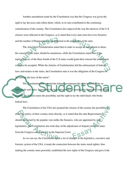 Constitution articles confederation essay how to write to paul newman