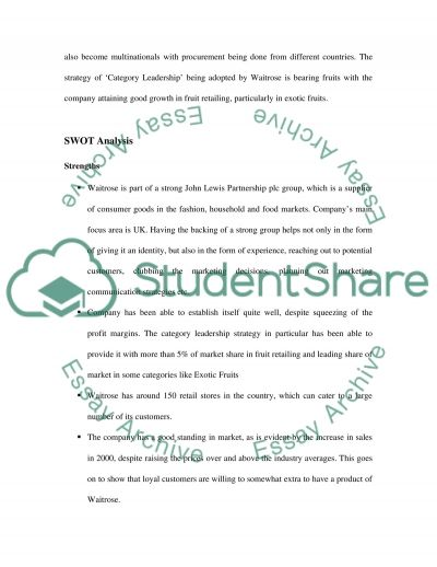 Strategic Marketing Case Study Analysis Essay essay example