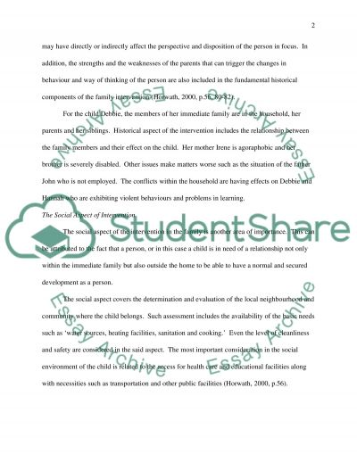 Working with children and families case study essay example
