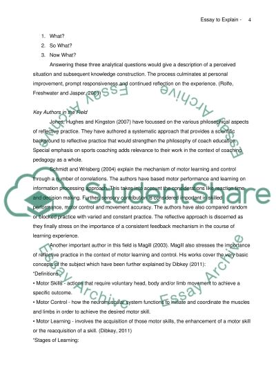 Reflection Essay Instructions   College of the Canyons