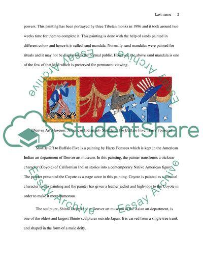 Describe Denver Art Museum Essay Example Topics And Well Written