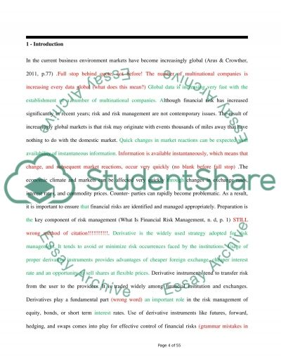 Managing Financial Risks With Derivatives essay example