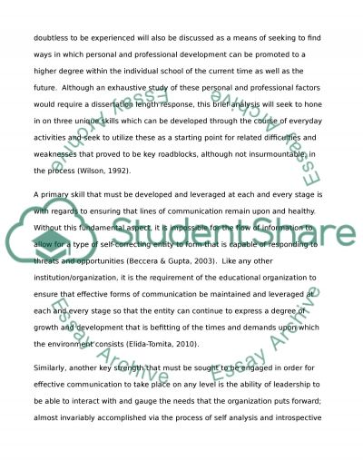 Practical Guide to Effective Leadership for School Managers essay example