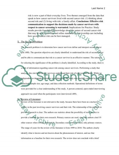 Critical Thinking Assignment Part Two essay example