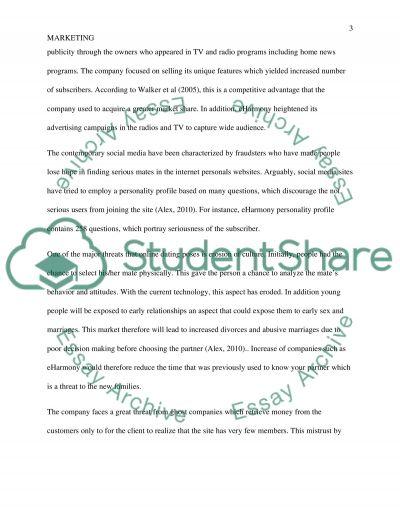 EHarmony Case Study essay example