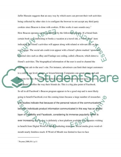 Digital Word-of-Mouth essay example