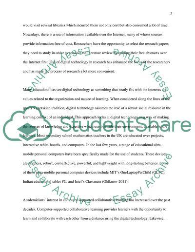 Digital technologhy plays a key role in education