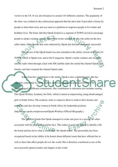 Oprah Winfrey Life essay example