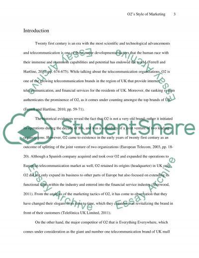 O2 essay example