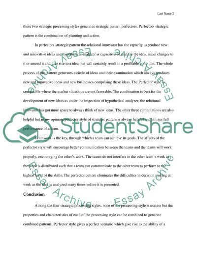 MGT302 - Org. Behavior and Teamwork SLP