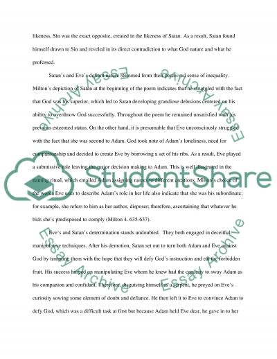 paradise lost eve essay When it comes to picking up a topic for your essay in paradise lost, feel free to use our help is there any change in eve after falling from paradise.