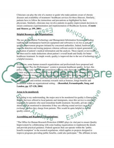 Quality Improvement essay example