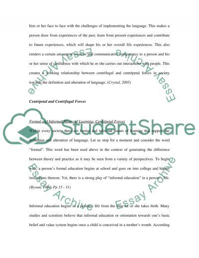 Old english language essay example