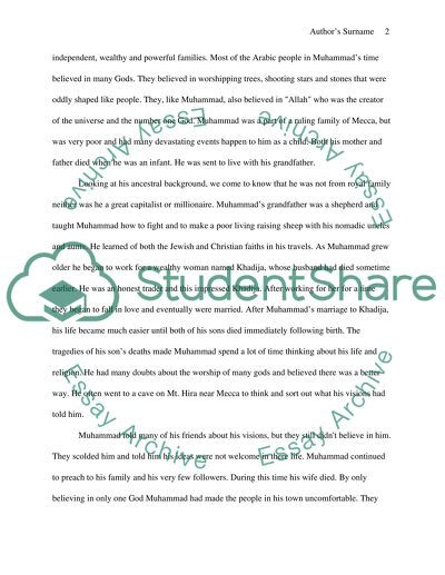 Business Essay Examples Prophet Muhammad Pbuh The Most Important Person In My Life What Is The Thesis Statement In The Essay also Custom Essay Papers Prophet Muhammad Pbuh The Most Important Person In My Life Essay Gay Marriage Essay Thesis
