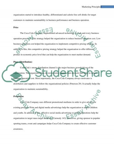 Marketing Principles Essay example