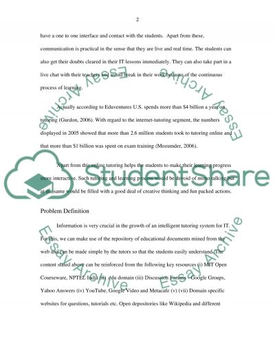 The theory of online tutoring Essay example
