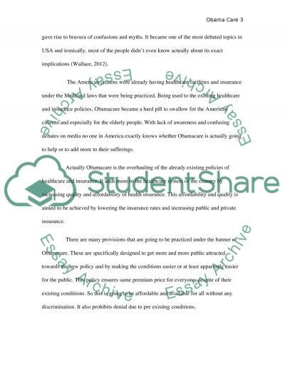 How obamacare relates to the practice of nursing and healthcare essay example
