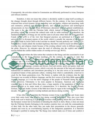 Liturgy Essay on Religion and Theology essay example