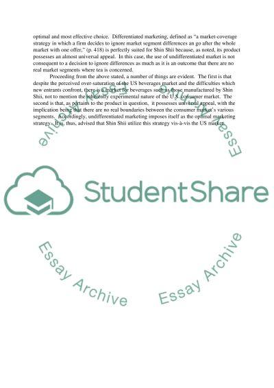 Principle of marketing Essay essay example