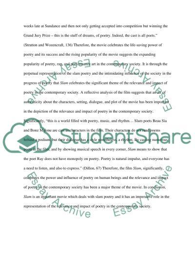Poetry Slam essay example