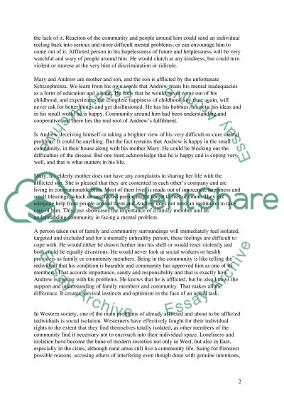 Enhancing community intergration essay example