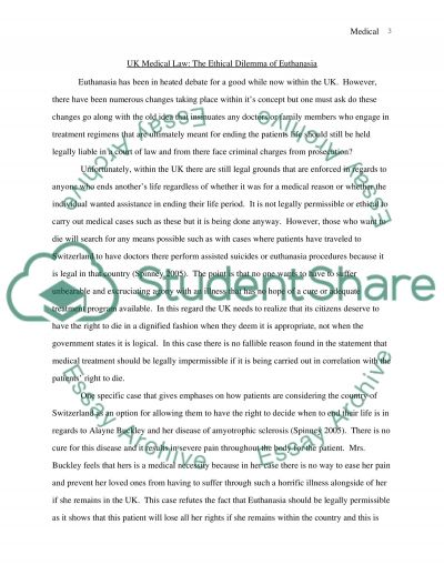 UK Medical Law Master Essay Essay example