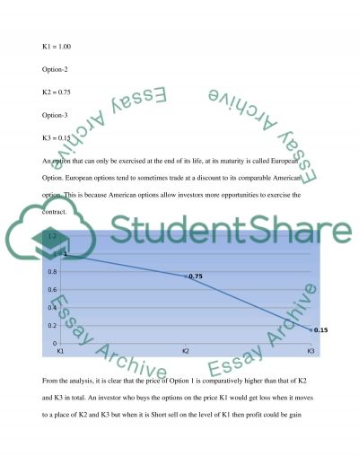 Finance (Derivative Securities) essay example