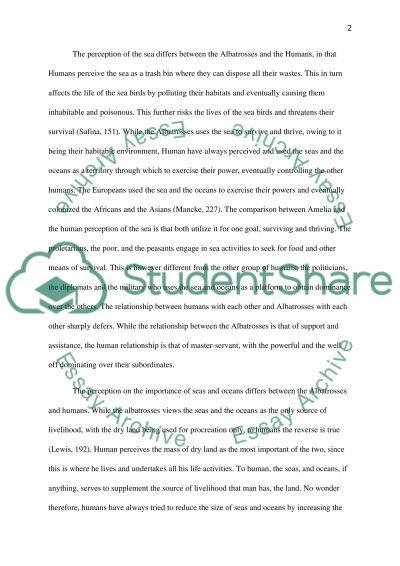 Eye of the Albatross essay example
