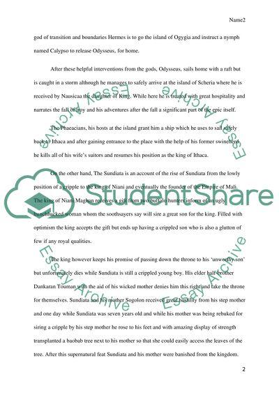 Free essays sundiata us resume paper size
