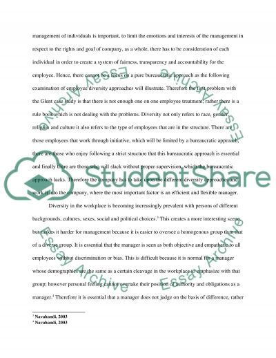 The Glent case study report essay example
