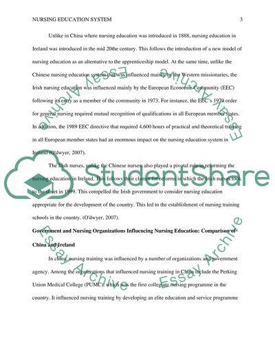 Comparison of two Nursing Education System