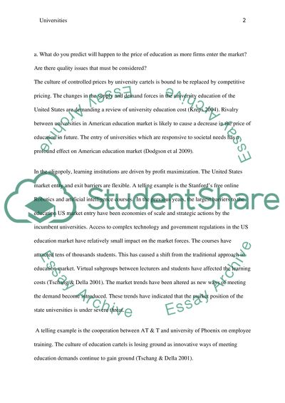 Are Universities Cartels