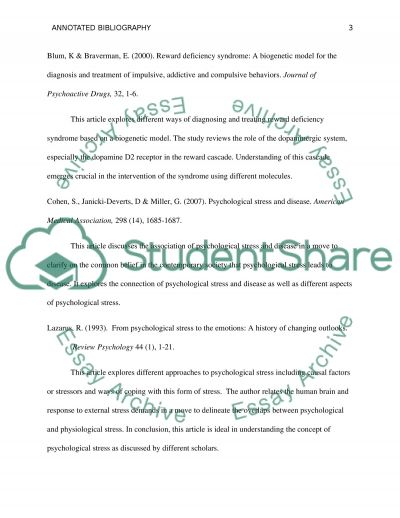 Annotated Bibliography Annotated Bibliography example