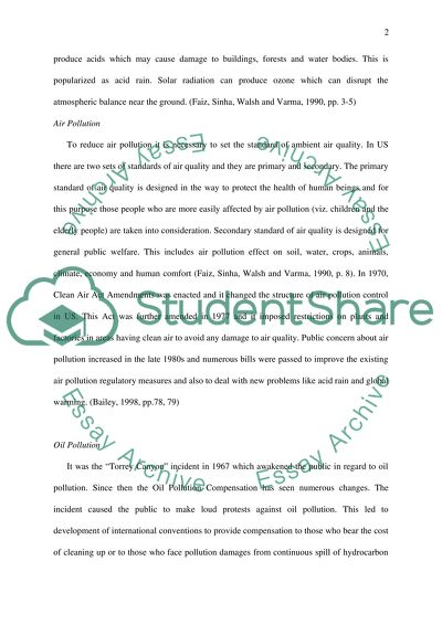Pollution Essay Example  Topics And Well Written Essays   Words Pollution