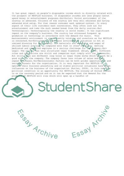 NETFLIX Strategic Analysis Research Paper Example | Topics