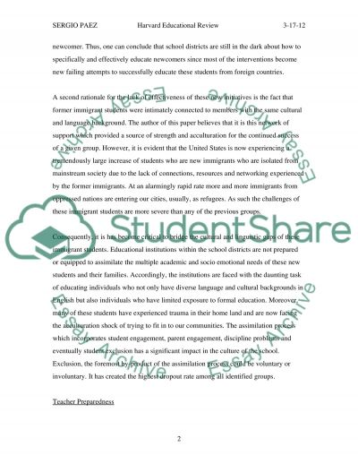 Meeting the Challenge of Educating English Language Learners essay example